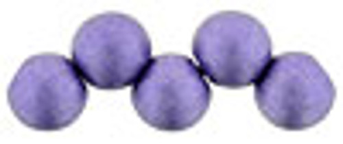 6mm Top Drilled Rounds - Satin Metallic Orchid - 25pc