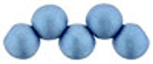 6mm Top Drilled Rounds - Satin Metallic Azure - 25pc