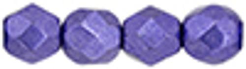 4mm Metallic Ultra Violet Fire Polish (50 Beads)