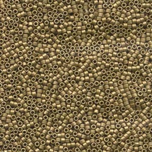 Matte Metallic Olive Gold 11/0 Delica Beads (7.2 Grams) db371