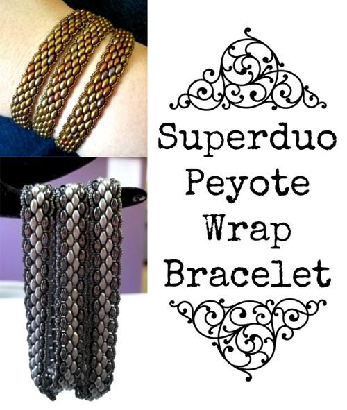 Superduo Peyote Wrap Bracelet Kit - Pastel Grey