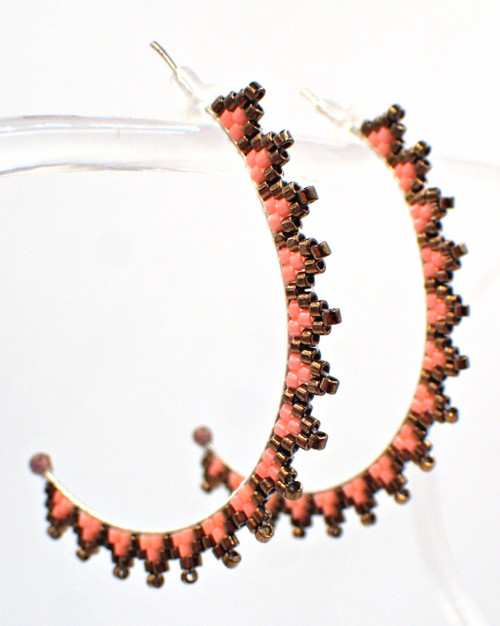 Crescent Moon Earring Kit - Peach  Color
