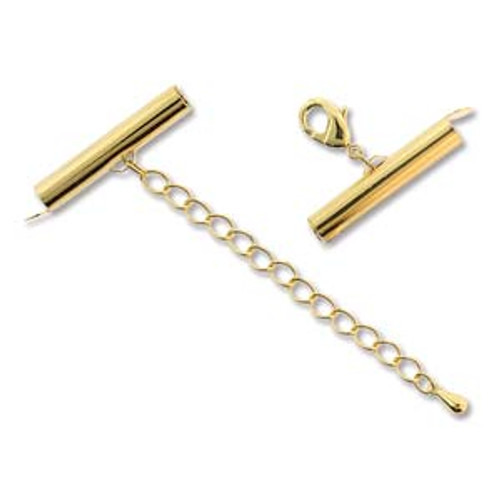 25x5mm Gold Plated Slide Clasp Connector (1 Set)