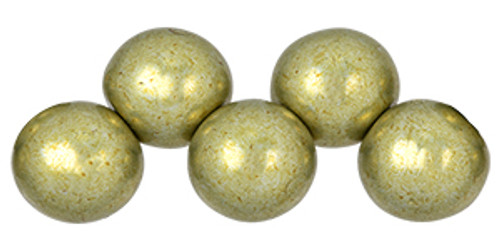 6mm Topdrilled Saturated Metallic Limelight (25pc)