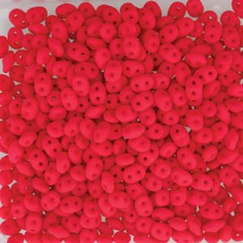 Neon Cherry Super Duo Beads