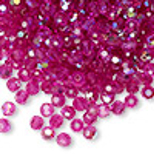 4mm Fuchsia AB Preciosa Round Crystals (12pk)