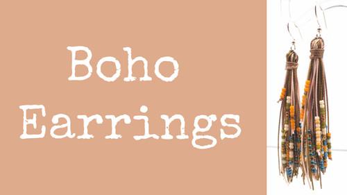 Boho Earring Instant Download PDF Pattern
