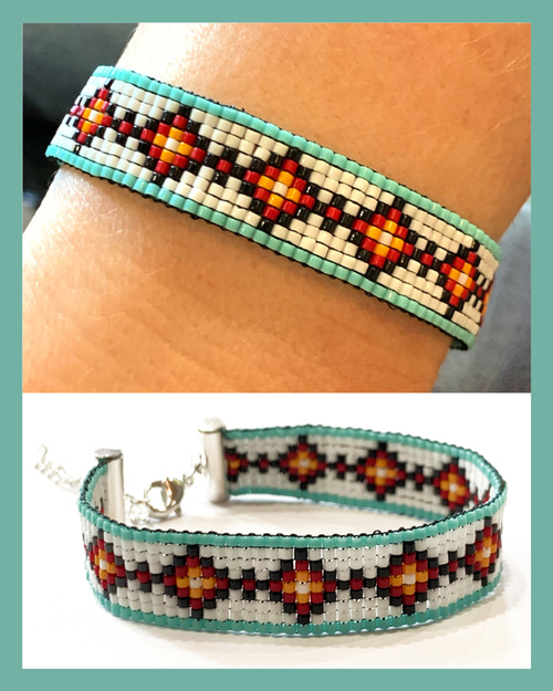 Black Diamonds Loom Bracelet PDF INSTANT DOWNLOAD Pattern