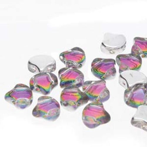 7.5x7.5mm Backlit Spectrum Ginko Beads (8 Grams) 30-35 Beads