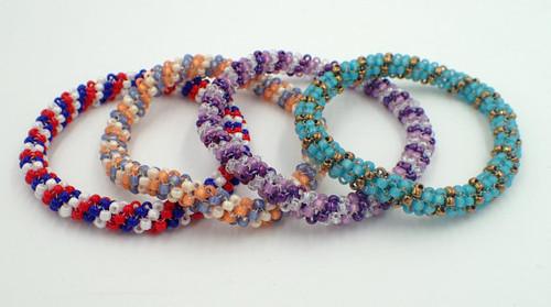 Tubular Peyote Stitch Bangle Bracelet Tutorial PRINTED Pattern