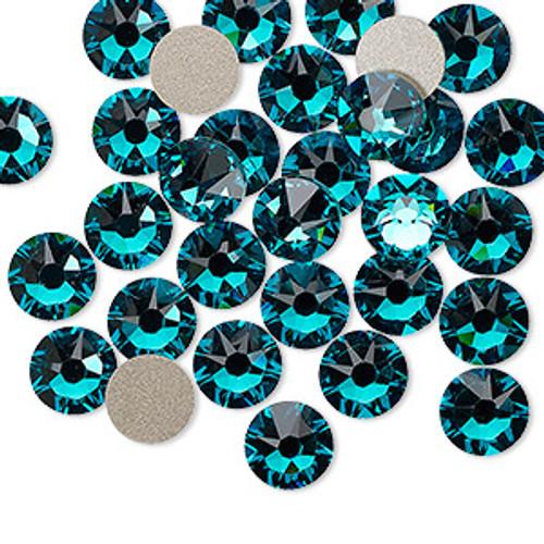6pk SS34 Blue Zircon Flat Back Crystal (2088)