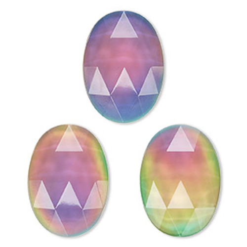 25x18mm Acrylic Color Changing oval cabochon (1 Piece)