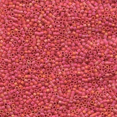 11/0 Opaque Matte Cranberry Delica Beads (7.2 Grams) DB873