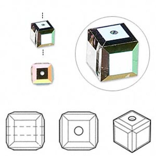 6mm Vitrail Swarovski Cube (2pk)