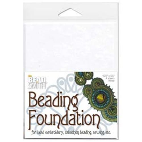 4 Sheets 4.25x5.5mm White Beading Foundation