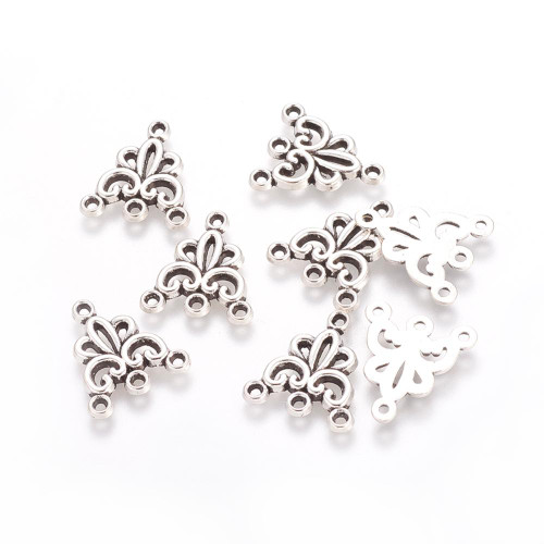 9x16x2mm Tibetan Style 3 Loop Chandelier 6pk (Pewter)