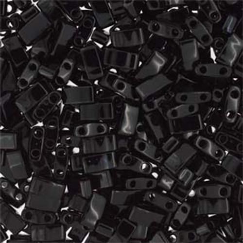 Black Half Tila Beads (2 Hole)
