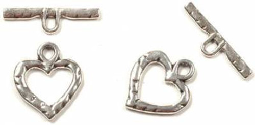 28x24mm Lead Free Pewter Heart Toggle (2 sets)