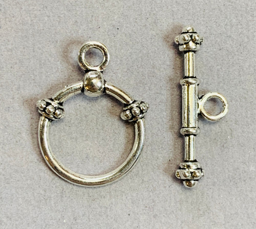 18x25mm Lead Free Pewter Bali Toggle (2 sets)