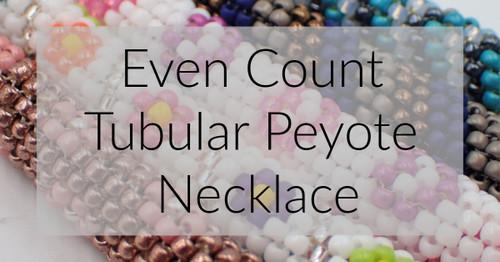 Chevron Tubular Peyote Stitch Necklace Graph & Word Chart PDF INSTANT DOWNLOAD Pattern