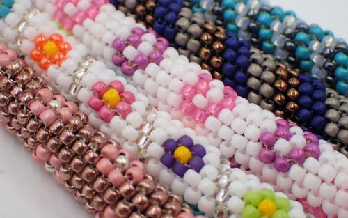 3 Color Stripe Tubular Peyote Necklace Kit