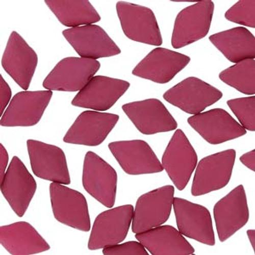8x5mm Matte Velvet Purple Wine Gemduo Beads (8 Grams Approx 65-68 Beads)