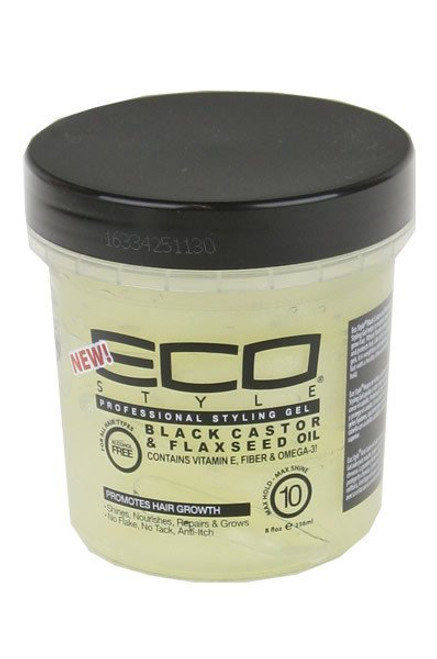 Eco Style Black Castor and Flaxseed Oil Styling Gel  16 oz