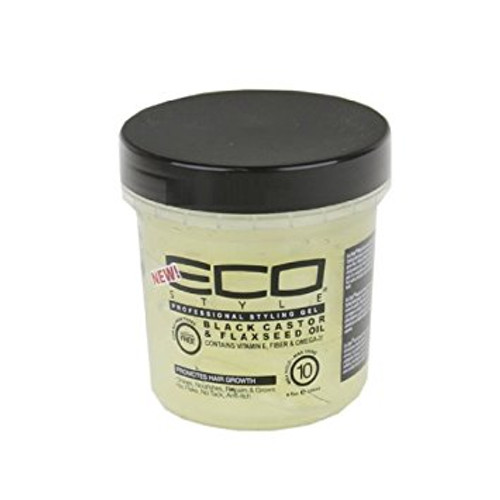 Eco Style Black Castor and Flaxseed Oil Gel 8 oz