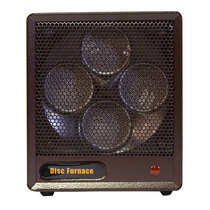 FRONT VIEW PORTABLE BROWN BOX HEATER