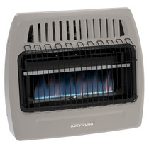 Kozy World Blue Flame Wall Heater Front View