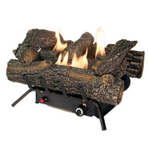 LEFT ANGLE OF LOG SET BURNING