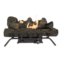 FRONT VIEW BURNING LOG SET