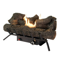 LEFT ANGLE BURNING LOG SET
