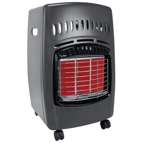 propane cabinet heater right angle ignited