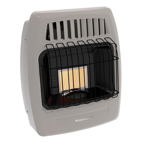 Kozy World KWP210 6,000 Btu 1 Plaque Propane (LP)Infrared Vent Free Wall Heater
