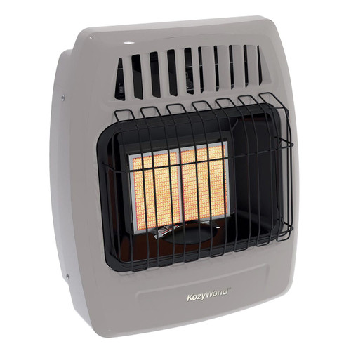 Kozy World KWN213 12,000 Btu 2 Plaque Natural Gas (NG) Infrared Vent Free Wall Heater