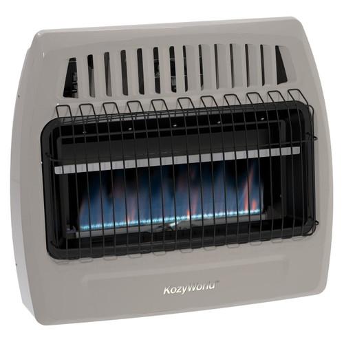 Kozy World KWN375 30,000 Btu Blue Flame Natural Gas (NG)Vent Free Wall Heater