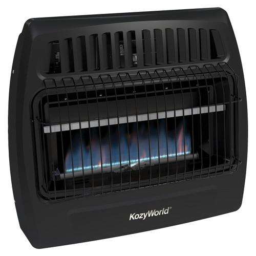 Kozy World KWG362 30,000 Btu Blue Flame Propane(LP) & Natural Gas(NG) Vent Free Utility Wall Heater
