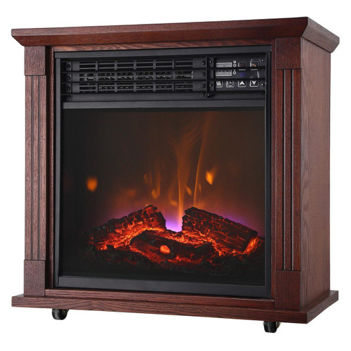 Comfort Glow QF4544R Mobile Quartz Electric Fireplace  with Real Flame™ Technology