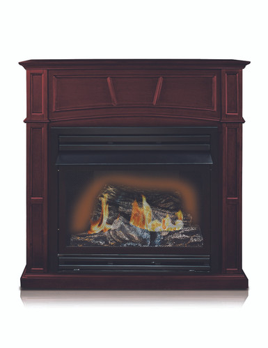 FRONT VIEW OF GAS FIREPLACE
