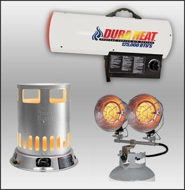 Gas Workspace Heater Support