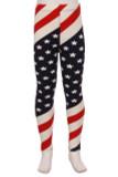 Mini Star Twist USA Flag Kid's Leggings
