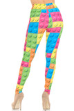Rear view image of our figure flattering body hugging Creamy Soft Lego Leggings - USA Fashion™
