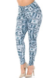 Angled front view image of our Creamy Soft Raining Money Extra Plus Size Leggings - 3X-5X - USA Fashion™ featuring a sassy and eye-catching collage style print of 100 dollar bills.