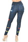 Back view image of Creamy Soft Pacman Begins Leggings - USA Fashion™ with a fitted body hugging look.