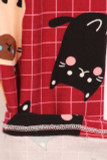 Close up fabric swatch of Buttery Soft Cartoon Kitty Cats Kids Leggings