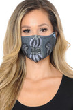 Front facing view of Bane Graphic Print Face Mask featuring a cool super-villain inspired graphic print.