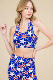 Our Buttery Soft American Stars Bra Top shown pictured with our matching Buttery Soft American Stars  Leggings.