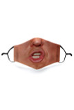 Front view of Talking Trump Graphic Print Face Mask featuring a photo realistic President mouth and nose design.