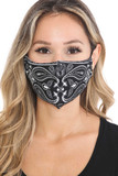 Front view of Mirror Reflection Bandana Graphic Face Mask
